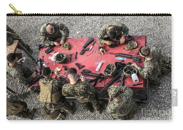 U.s. Marines Clean Their Weapons Carry-all Pouch