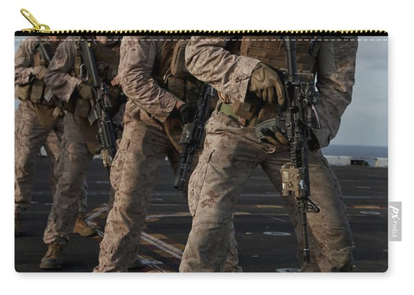 U.s. Marines Prepare To Fire At Targets Carry-all Pouch