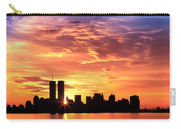 Us, New York City, Skyline, Sunrise Carry-all Pouch