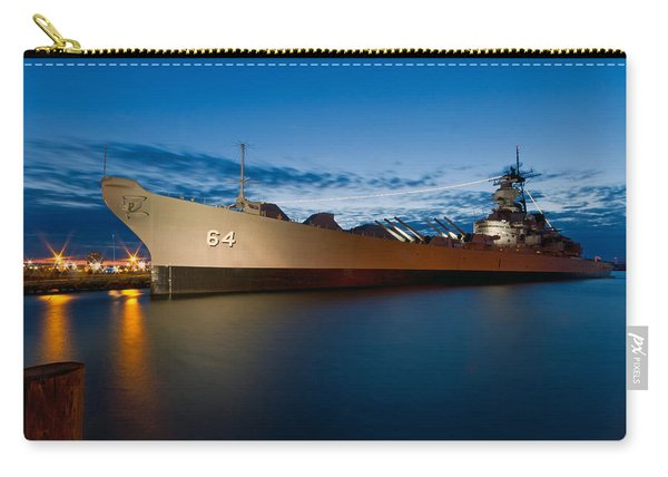 Uss Wisconsin At Sunset Carry-all Pouch