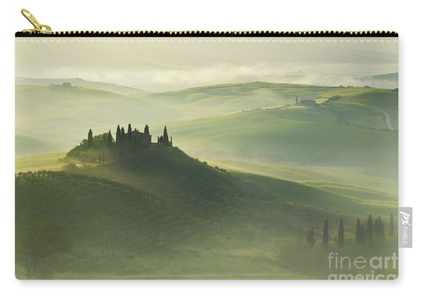 Carry-all Pouch featuring the photograph Val D'orcia by Jaroslaw Blaminsky