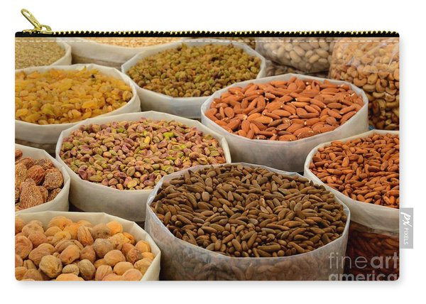 Variety Of Raw Nuts For Sale At Outdoor Street Market Karachi Pakistan Carry-all Pouch