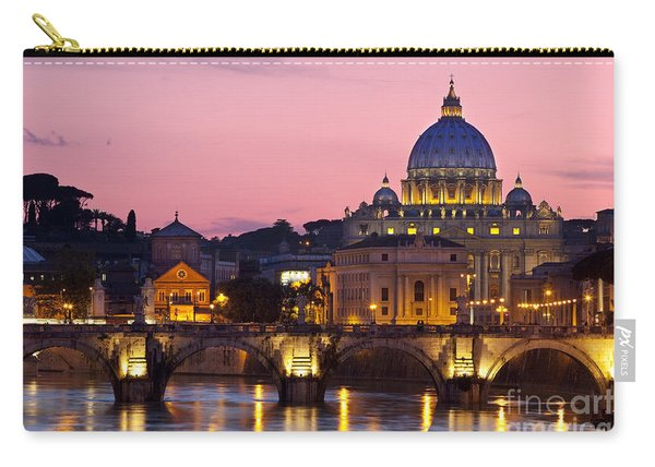 Carry-all Pouch featuring the photograph Vatican Twilight by Brian Jannsen