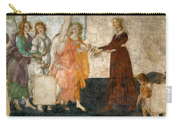 Venus And The Three Graces Offering Presents To A Young Girl Carry-all Pouch