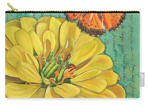 Verdigris Floral 2 Carry-all Pouch