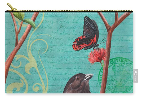 Verdigris Songbirds 2 Carry-all Pouch
