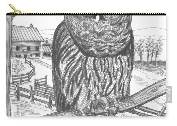 Vermont Barred Owl Carry-all Pouch