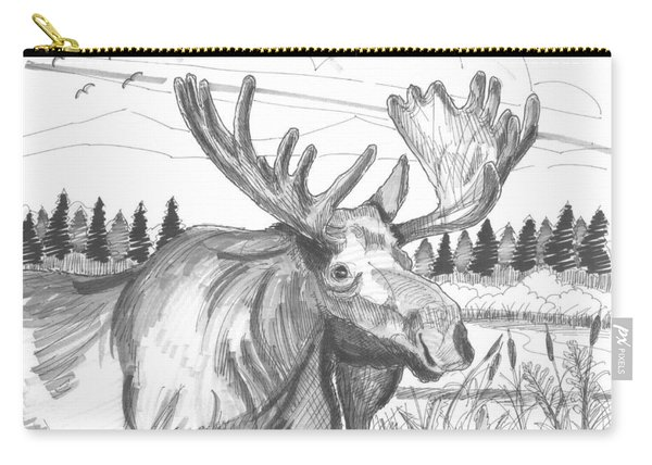 Vermont Bull Moose Carry-all Pouch