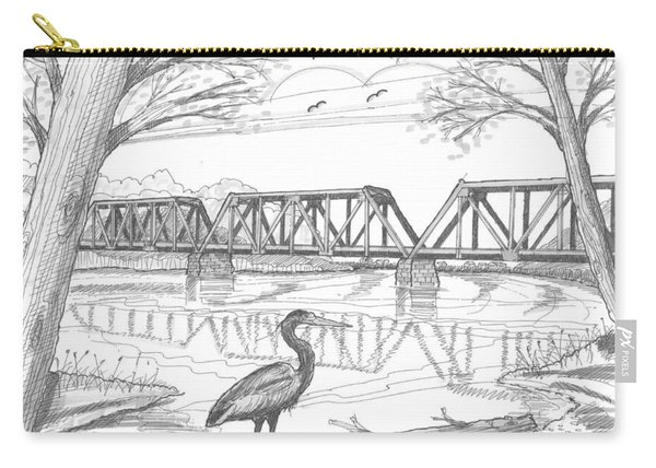Vermont Railroad On Connecticut River Carry-all Pouch