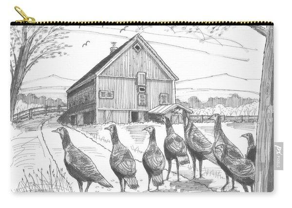 Vermont Wild Turkeys Carry-all Pouch
