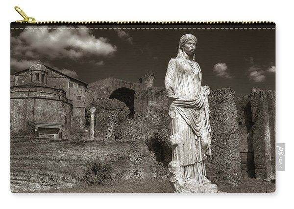 Vestal Virgin Courtyard Statue Carry-all Pouch