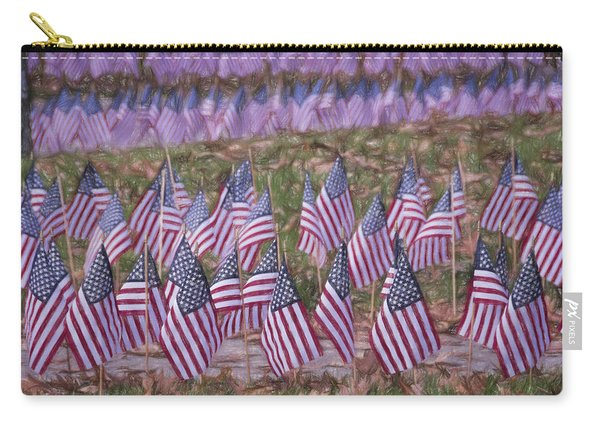 Veterans Day Display Color Carry-all Pouch