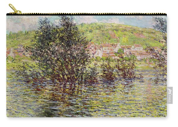 Vetheuil, View From Lavacourt, 1879 Oil On Canvas Carry-all Pouch