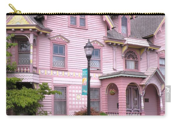 Victorian Pink House - Milford Delaware Carry-all Pouch