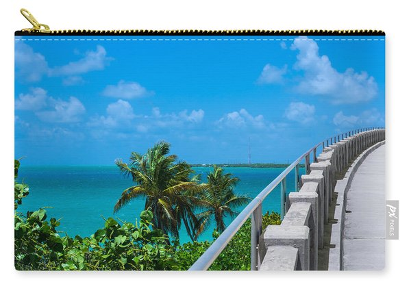 View From The Old Bahia Honda Bridge Carry-all Pouch