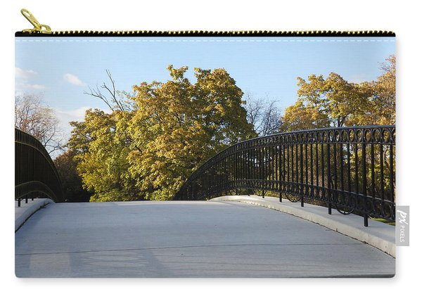 View Of Fall Trees From Footbridge - M Landscapes Fall Collection No. Lf21 Carry-all Pouch