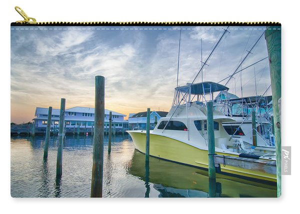 View Of Sportfishing Boats At Marina Carry-all Pouch
