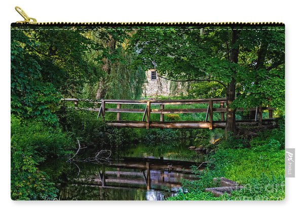 View Of The Grist Mill At Waterloo Village Carry-all Pouch