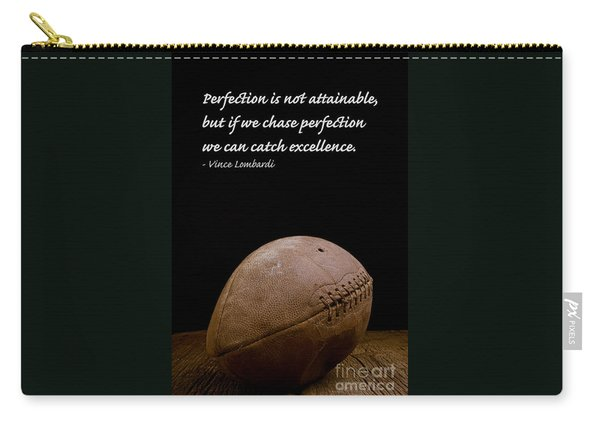Vince Lombardi On Perfection Carry-all Pouch
