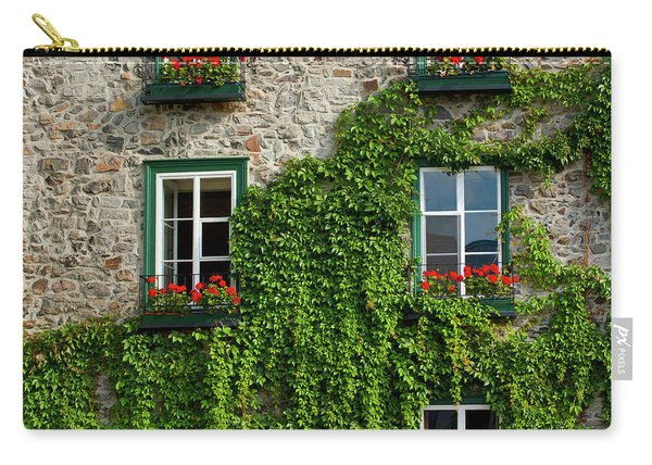 Vine Covered Stone House And Windows Carry-all Pouch