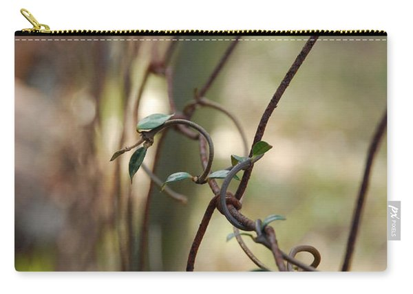 Vine On Rusted Fence Carry-all Pouch