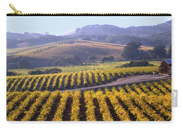 6b6386-vineyard In Autumn Carry-all Pouch