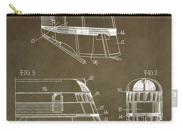 Vintage 1941 Train Patent Carry-all Pouch