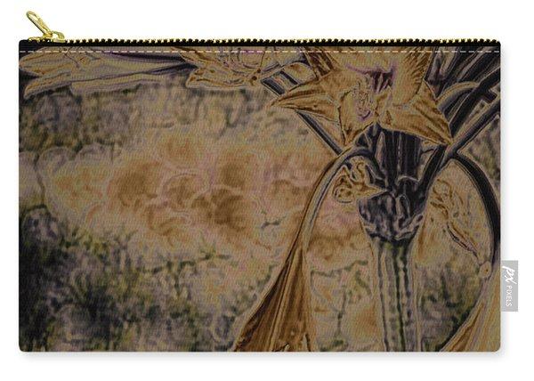 Vintage Angel Trumpet Art Golden Carry-all Pouch