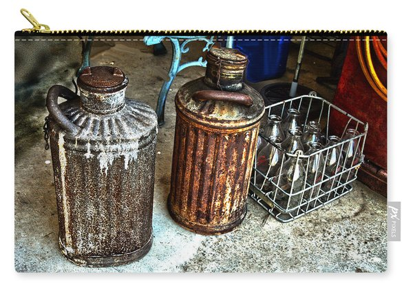 Hdr Vintage Art  Cans And Bottles Carry-all Pouch