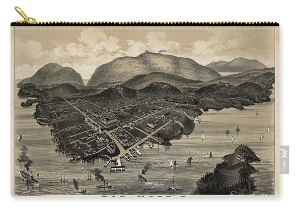 Vintage Bar Harbor Map Carry-all Pouch