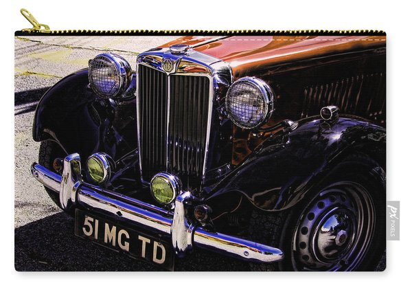 Vintage Car Art 51 Mg Td Copper Carry-all Pouch