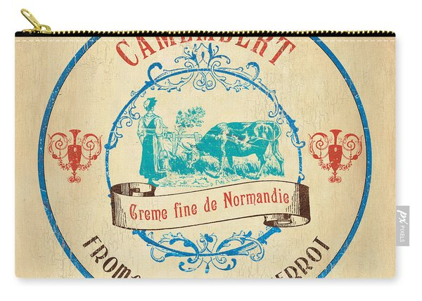 Vintage Cheese Label 3 Carry-all Pouch
