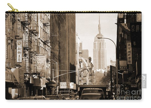 Vintage Chinatown And Empire State Carry-all Pouch