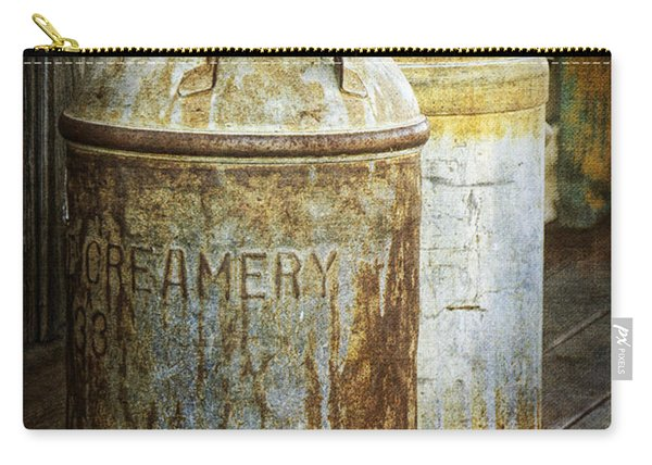 Vintage Creamery Cans In 1880 Town In South Dakota Carry-all Pouch