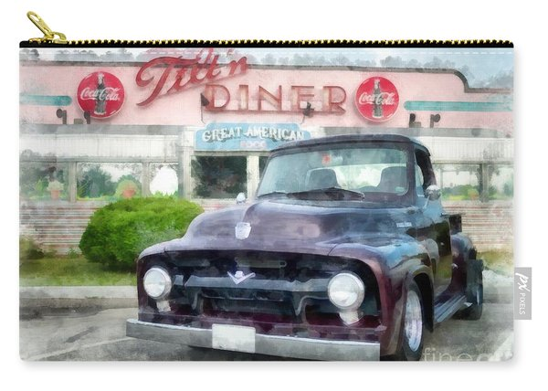 Vintage Ford Pickup At The Diner Carry-all Pouch