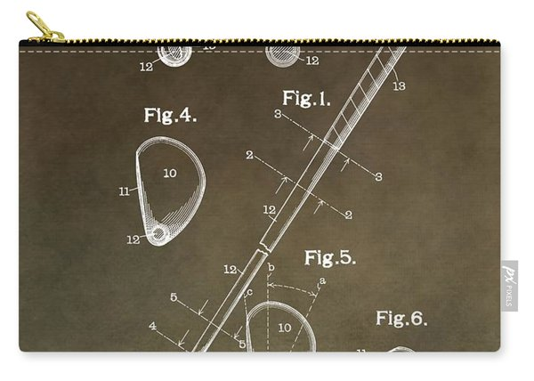 Vintage Golf Club Patent Carry-all Pouch