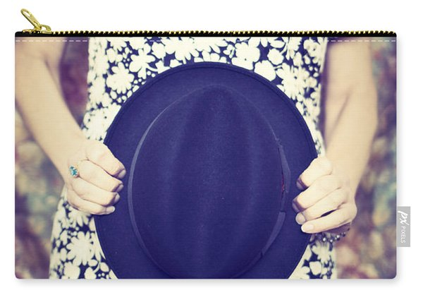 Vintage Hat Flower Dress Woman Carry-all Pouch