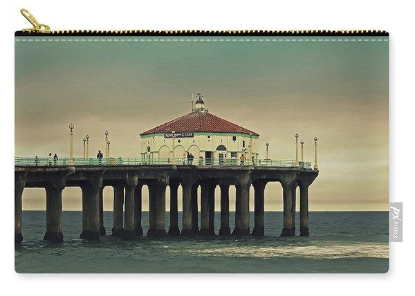 Vintage Manhattan Beach Pier Carry-all Pouch