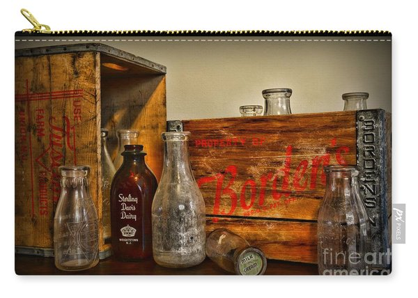 Vintage Milk Delivery Carry-all Pouch
