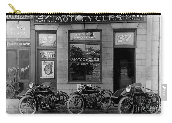 Vintage Motorcycle Dealership Carry-all Pouch