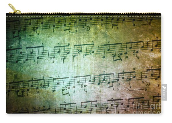 Vintage Music Sheet Carry-all Pouch