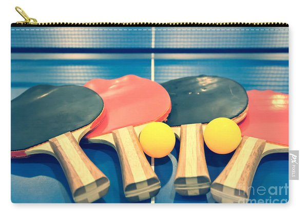 Vintage Ping-pong Bats Table Tennis Paddles Rackets Carry-all Pouch