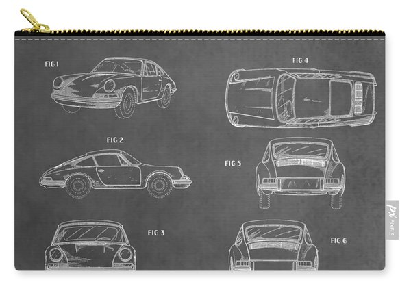 Vintage Porsche Patent Carry-all Pouch