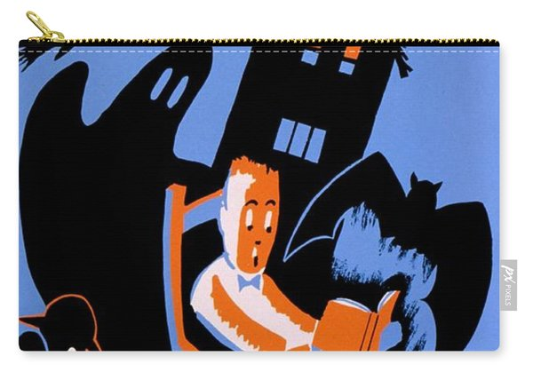 Vintage Poster - Reading - October Carry-all Pouch