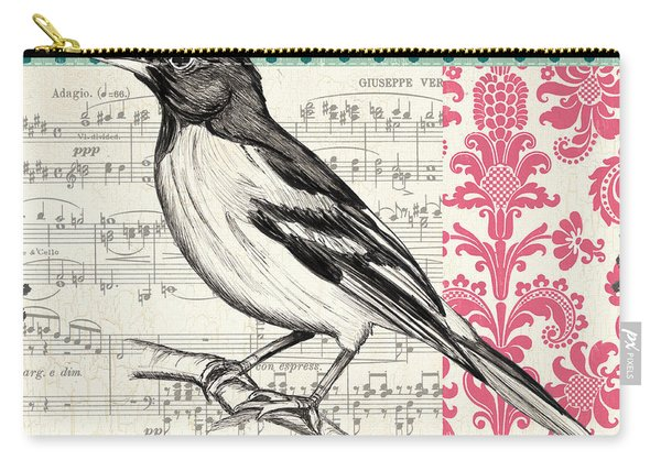Vintage Songbird 2 Carry-all Pouch