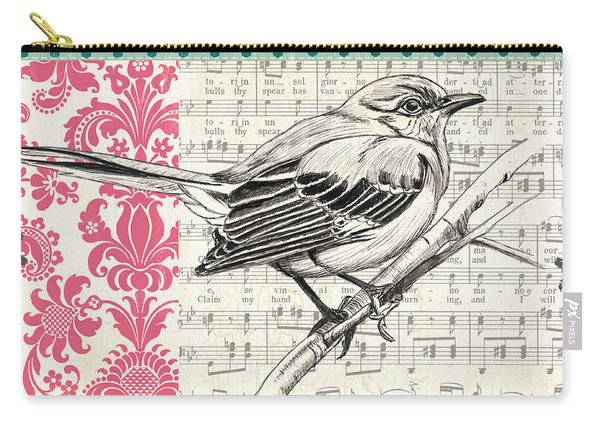 Vintage Songbird 4 Carry-all Pouch