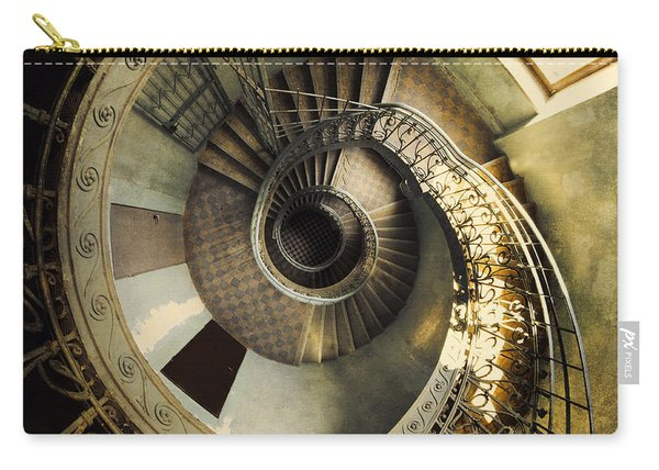 Carry-all Pouch featuring the photograph Vintage Spiral Staircase by Jaroslaw Blaminsky