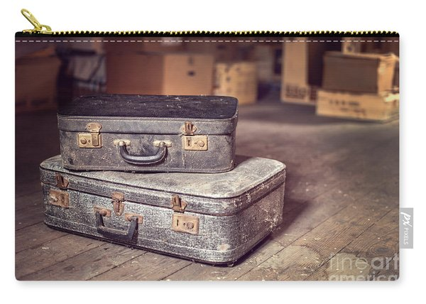 Vintage Suitcase Carry-all Pouch