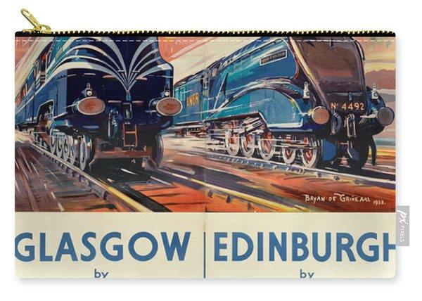 Vintage Train Travel - Glasgow And Edinburgh Carry-all Pouch