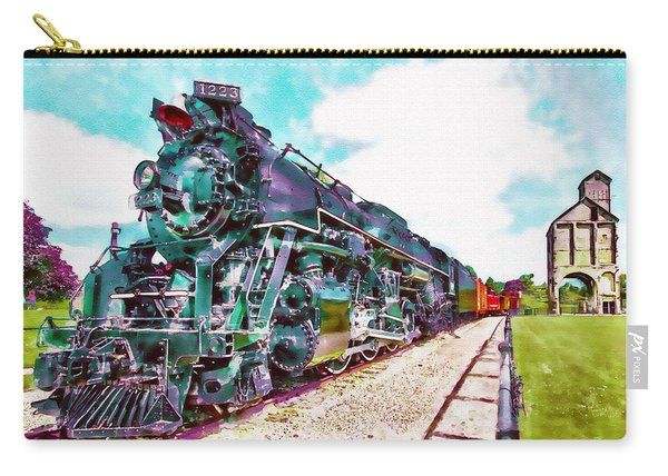 Vintage Train Watercolor Carry-all Pouch